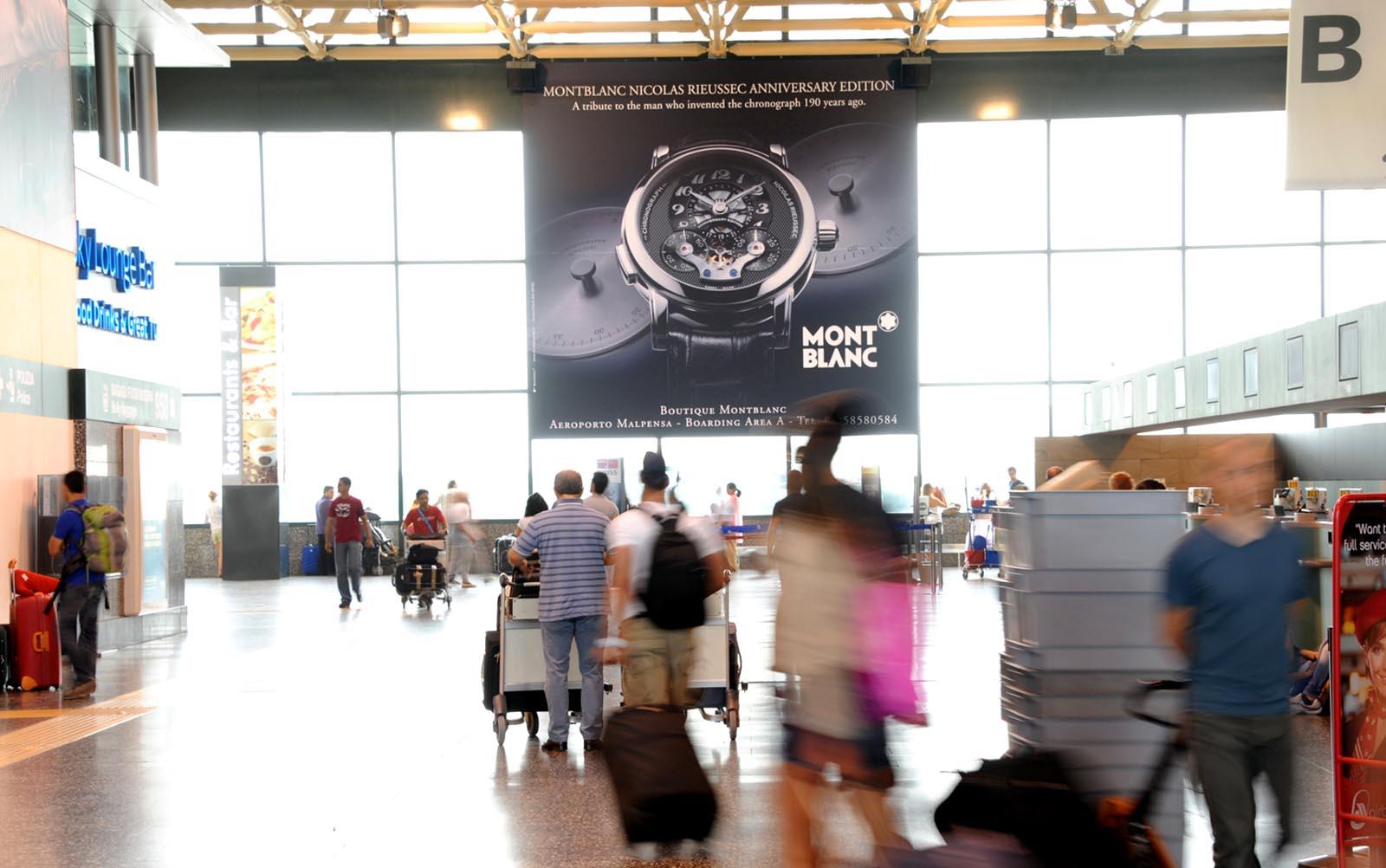 Banner per circuiti di Affissione in Aeroporto